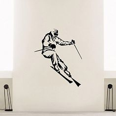 Wall Decal Vinyl Sticker Sport Gym Skier Skiing Decor Sb641 ElegantWallDecals http://www.amazon.com/dp/B012DS4BOW/ref=cm_sw_r_pi_dp_9hkYvb1GX042Z
