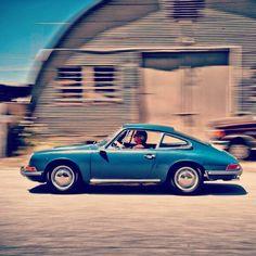Blue Porsche 911