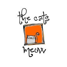 Premade Logo  Grey Tabby Cat in Orange Window  by STONESOUPDESIGN, $45.00