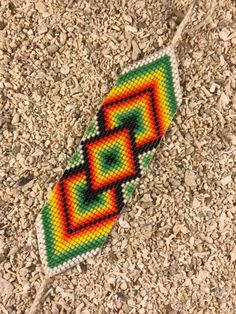off loom beading Loom Bracelet Patterns, Bead Loom Bracelets, Bead Loom Patterns, Bracelet Crafts, Friendship Bracelet Patterns, Beading Patterns, Native Beadwork, Native American Beadwork, Loom Bands