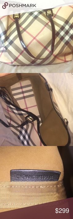 Burberry tote In good used condition tote with a few minor blemishes, authentic and huge for all your things! Burberry Bags Totes