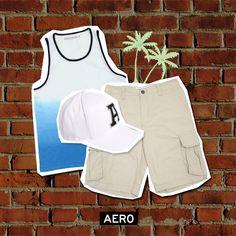 #AERO #Guys #short #beach #shirt #sun