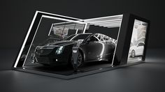 Booth para Cadillac on Behance Cadillac, Exhibition Stand Design, Exhibition Space, Car Expo, Stand Feria, Car Station, Container Shop, Showroom Design, 3d Laser