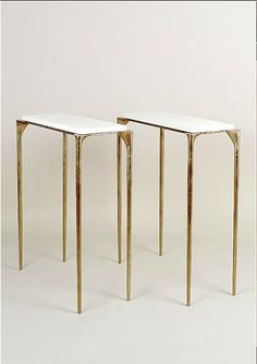 Adam Williams Design | White console table as casegood inspiration for modern interiors. | Hall console tables or dining room console tables.  Modern console tables, golden console table, small console table  http://modernconsoletables.net/
