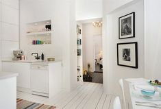 Painted white floorboards + colour = me happy White Floorboards, Painted Floorboards, White Painted Floors, White Brick Walls, Brick Interior, Interior Exterior, Interior Design Images, Wood Laminate Flooring, Apartment Layout