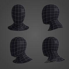Human Head Basemesh 3D model