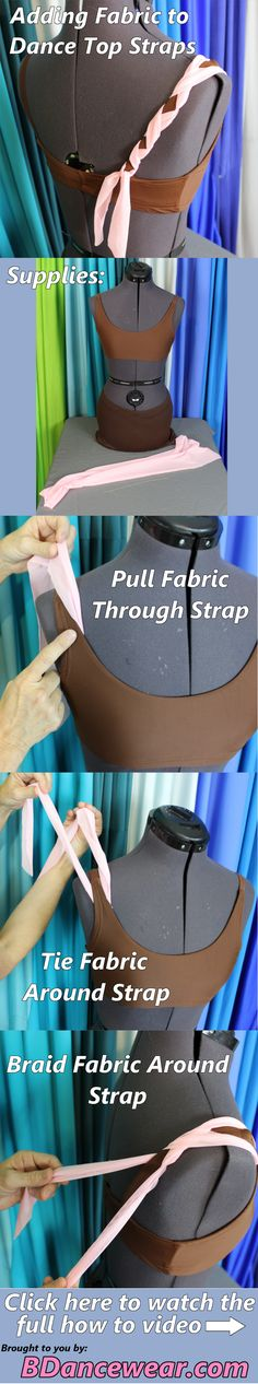 How to Add Fabric to Dance Top Straps for a DIY Dance Costume