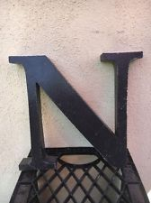 Vintage Industrial Metal Marquee Channel Letter N Wall Art Salvaged Decor - decorationdiyroom. Letter N, Letter Wall, Industrial Metal, Vintage Industrial, Metal Wall Letters, Salvaged Decor, Channel Letters, Wall Art, Decoration