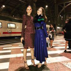 "701 Likes, 36 Comments - Luna De Casanova (@lunadecasanova) on Instagram: ""Last train home and we are not taking it! #whippet #girl #train #station #fendi #dinner #milano…"""