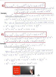 Formule de calcul prescurtat: teorie + exemple (exercitii rezolvate matematica gimnaziu) – #JitaruIonelBLOG -pregatire BAC si Evaluarea Nationala 2020 la matematica si alte materii! *materiale (lectii +formule +exercitii rezolvate matematica) gimnaziu si liceu; *edu.ro modele BAC 2020 modele Evaluare Nationala 2020; *modele simulare Evaluare Nationala BAC 2020 2019 2018 2017 2016 2015 2014 2013 2012 2011 2010 subiecte.edu.ro; Modele comper 2020; evaluare nationala clasele 2 4 6 modele 2020; *tit 6 Abs, Algebra, Bullet Journal, Physics, Education, Blog, Maths, Calculus, Blogging