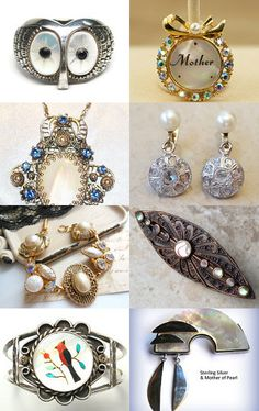 Pearl And Her Mother VJTSOT BejeweledEmporium by Marirose on Etsy--Pinned with TreasuryPin.com