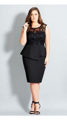 Plus Size Sequin Prom Dress - City Chic