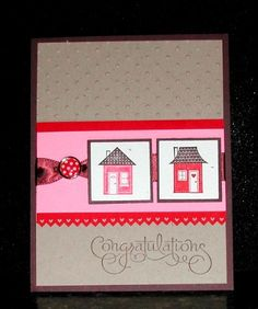 Stampin' Up! card using Good Neighbors and Well Scripted stamp sets (retired).  To see more swing by my blog for more ideas and follow my boards. :) Made by Lisa Bowell-Stampin' Up! Demonstrator @ lisastamps.com