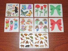 Fuzzy Sandylion Sticker lot by vintage23 on Etsy