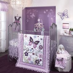Lambs & ivy butterfly lane 5-pc. crib bedding set at Kohl's