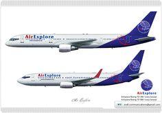 Air Explore / Boeing 757 200 / Livery Concept Air Explore / Boeing 737 800 / Livery Concept