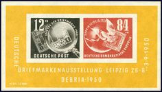 Collections and Lots Germany - 1949-1970: BRD/DDR, unkomplett, mit vielen besseren Werten/Serien/Blocks, teils doppelt geführt, teils mehrfach, in 2 Alben  Lot condition ** *   Dealer Rölli-Schär AG  Auction Starting Price: 400.00 CHF