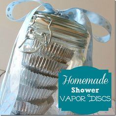 Homemade Shower Vapor Disc Recipe to use when you have a cold