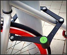 Foldylock - The Premium Folding Bike Lock by Foldylock — Kickstarter. A premium lock that easily unfolds into a 90 cm sturdy lock. When folded it's easily carried in its case, mounted on your bike frame. Bicycle Lock, Folding Bicycle, Bicycle Tools, Tel Aviv, Kayak Storage, Diy Accessoires, Bike Frame, Fancy, Bike Accessories