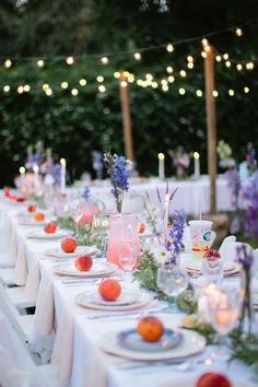I love the pop of color the peaches add. Really adds to the boho look:) Post Wedding, Wedding Tips, Trendy Wedding, Summer Wedding, Wedding Table, Wedding Picnic, Sedona Wedding, Spring Weddings, Wedding Fun