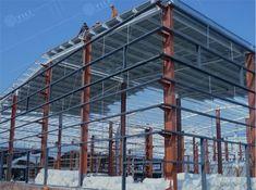 Standard steel structure workshop,steel prefab warehouse,standard poultry farm,YiLi Steel Structure Warehouse Project, Poultry House, Chicken Coop Designs, Industrial Park, Building Systems, Qingdao, Steel Buildings, Shed Storage, Steel Structure