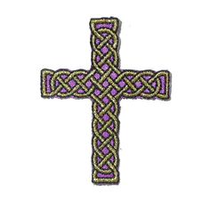 PATCHWORK PANDA LLC - Iron On Patch Applique - Celtic Rope Cross Small Purple, $1.00    ***BACK IN STOCK***(http://www.patchworkpandatrims.com/iron-on-patch-applique-celtic-rope-cross-small-purple/)
