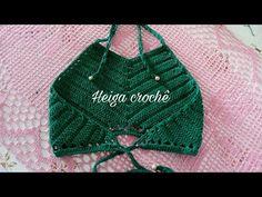 (103) Cropped de Crochê Barroco MaxColor 4 Professora Simone Eleotério - YouTube Bikinis Crochet, Crochet Halter Tops, Crochet Bikini Top, Black Crochet Dress, Crochet Cardigan, Crochet Lace, Tops Tejidos A Crochet, Crochet Designs, Crochet Patterns