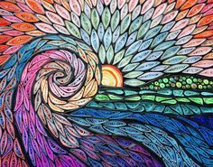 Image of quilled mosaic by Erin Curet