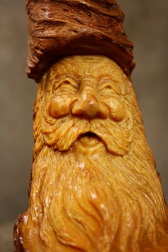Wood Spirit Wood Carving Unique Christmas by TreeWizWoodCarvings, $56.00