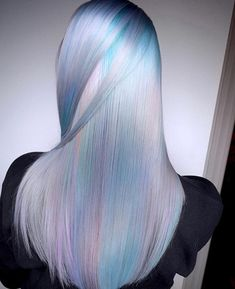 Holographic Hair #holographic #hairgoals #pastelhair
