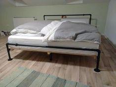 DIY BETT aus Temperguss Rohren #DIY #Temperguss #Bett #Wasserrohr #Rohr #Fittings