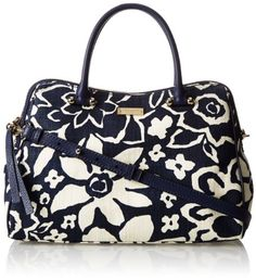 kate spade new york Charles Street Fabric Audrey Top Handle Bag,French Navy ,One a5b6605cc5