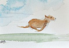 ORIGINAL Miniature Watercolour Painting The by studiohydeart #art #original #watercolour #painting #dog #etsy