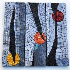 """Winter Glow"" Mosaic panels by Rachel Greenberg"