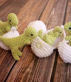 Crochet these adorable dinos!