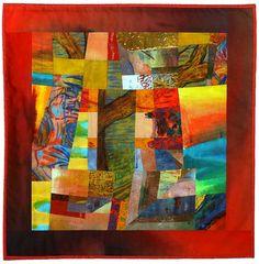 """Celebration II"" art quilt wall hanging by Fran Cowen Adler."