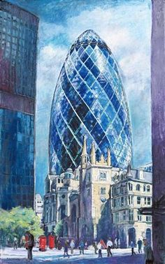 The Gherkin, London by Patricia Clements