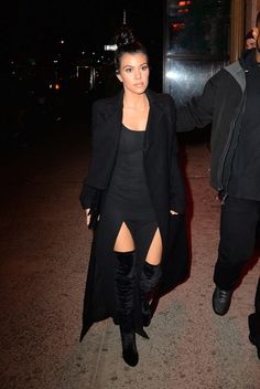 Kourtney heading to the Yeezy Season 2 Zine Launch Party in New York (2/10/2016)