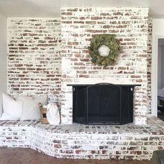 Incredible diy brick fireplace makeover ideas 14