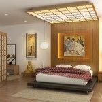 Awesome Japanese Bedroom Design with Japanese Shoji Screen