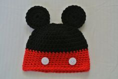 Crochet baby / infant hat mouse ears with by MorganBrynDesigns, $20.00