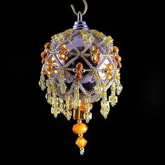 Beaded Ornament Cover | Esferas | Pinterest
