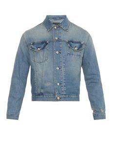 Distressed denim jacket   McQ Alexander Mcqueen   MATCHESFASHION.COM UK #MATCHESFASHIONMan