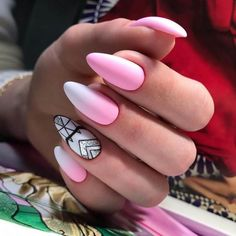 Nail Art magnetic designs for fascinating ladies. Nail Art Design Gallery, Best Nail Art Designs, Pink Summer Nails, Pink Nails, Bright Nails, Gradient Nails, Stiletto Nails, August Nails, Ballerina