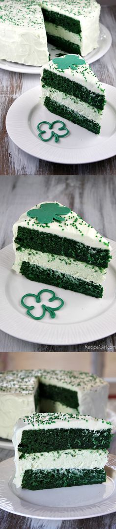 St. Patrick's Day Green Cheesecake With Cream Cheese Marshmallow Frosting