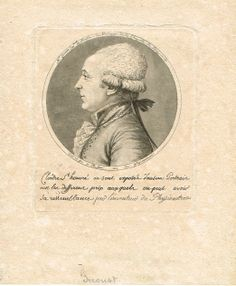 François GIROUST (1738-1799) - Surintendant et Maitre de Musique de la Chapelle du Roy - portrait au physionotrace par Chrétien - un des premiers portraits réalisés avec cette machine.
