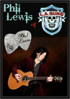 Phil Lewis of LA GUNS EGOpicks Custom Guitar Picks www.egopicks.com