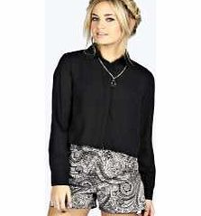 boohoo Emily Wrap Back Long Sleeve Boxy Shirt - black Make your top pop this season with sporty, baseball-style basic tees in quilted finishes with ribbed, stripe trims. Crew necks come in block colours, crop tops with mesh inserts and long sleeve jersey http://www.comparestoreprices.co.uk/womens-clothes/boohoo-emily-wrap-back-long-sleeve-boxy-shirt--black.asp