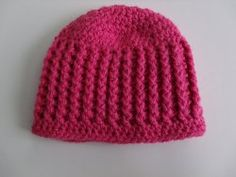 Ribbed Baby Beanie   ~ free pattern