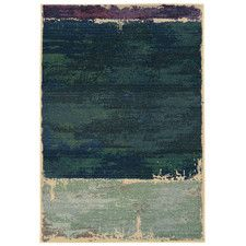 Expressions Abstract Green Area Rug